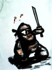 Monkey ninja! Watch out benaners..