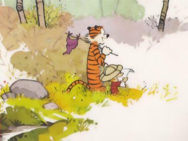 Calvin and Hobbes. Copyright- Bill Watterson.