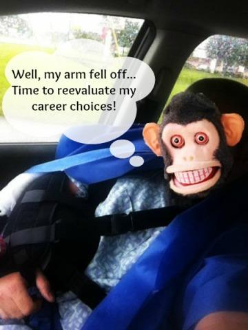 Post op monkey pin