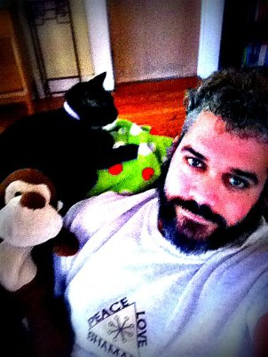 Sitting on the couch with Doug and The Great Catsby...