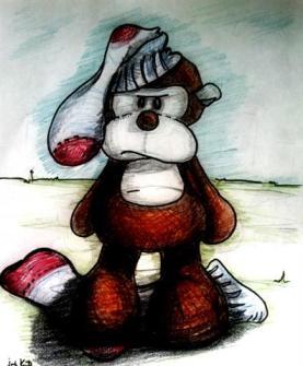 Doug's inner self is NOT a sock monkey...