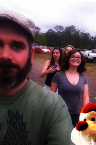 Me and three of the six drama creatures who followed me to the fair...